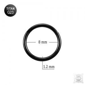 Сегментное кольцо 8*1.2 mm. BLACK (G23)