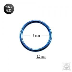 Сегментное кольцо 8*1.2 mm. Dark Blue (G23)