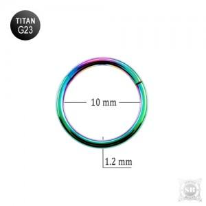 Сегментное кольцо 10*1.2 mm. Rainbow (G23)